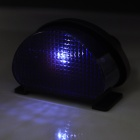 0.8W 450nm 1-LED Purple Light Solar Powered Fence / Wall / Courtyard / Garden Lamp - Black + Purple