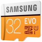 Подлинная Samsung Micro SD / TF Memory Card - Black + Orange (32 Гб / Class 10)