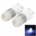 M3157382 3157 3W 160~180lm 6000~6500K 1-SMD LED White Light Car Brake Light - Silver + White (2 PCS)