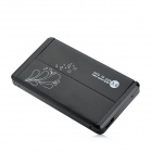 "2.5"" SATA USB 3.0 HDD Enclosure w/ Leather Pouch - Black + White"