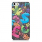 3D Currency Symbol Pattern Protective PVC Hard Back Case for Iphone 5 - Multicolored