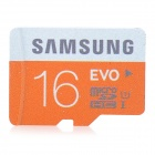 Genuine Samsung Micro SD / TF Memory Card - Black + Orange (16GB / Class 10)