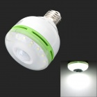 RZD RZD60-1 E27 6W 540lm 6000~6500K 30-LED White Light Sensor Lamp Bulb - White + Green
