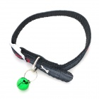 JCLC-235-3 Bone Pattern Pet Dog Cat PP Neck Belt Collar Strap w/ Leash - Black + Grey