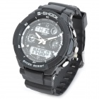 SKMEI 0931 Men's Stylish Dual Time Display Water Resistant Wrist Watch - Black
