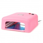 SK-818 Nails Gel UV Curing Lamp Machine - Pink (36W)