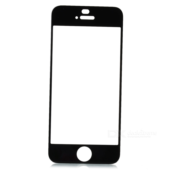 Protective Toughened Glass Front Screen Cover Sticker for Iphone 5 / 5s - Black