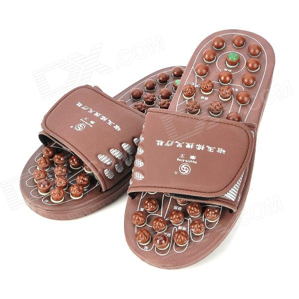 KangWang KW-313F Jade Magnetic Therapy Foot Massage Shoes - Chocolate (Size ) Madison товары вещи