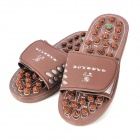 KangWang KW-313F Jade Magnetic Therapy Foot Massage Shoes - Chocolate (Size )