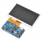 "DIY 5"" LED Screen 480 x 234 2-CH Video Input Display Module - Black + Blue + Silver"