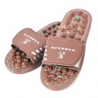 KangWang KW-313F Jade Magnetic Therapy Foot Massage Schuhe - Chocolate (Größe 43)