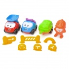 Baiyuan BY-662 Lustige QQ Engineering Team Vehicle Toys - Multi-color (10 PCS)