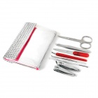 Rimei 8-in-1 Manicure Stainless Steel Set w/ Bag - Silver
