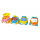 Baiyuan BY-668 Cartoon-Stil ABS 4-in-1 Kids Educational Car Toys - Multicolored