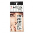 Polka Dots Leopardenmuster Nail Art Sticker - Black + White