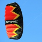 QUNLON Quest 2 2-Sqm Dual Line Parachute Power Kite - Red + Black + Yellow