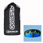 QUNLON Quest 2 2-Sqm Dual Line Parachute Power Kite - Blue + Black + Yellow