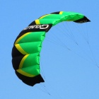 QUNLON Quest 2 2-Sqm Dual Line Parachute Power Kite - Green + Black + Yellow