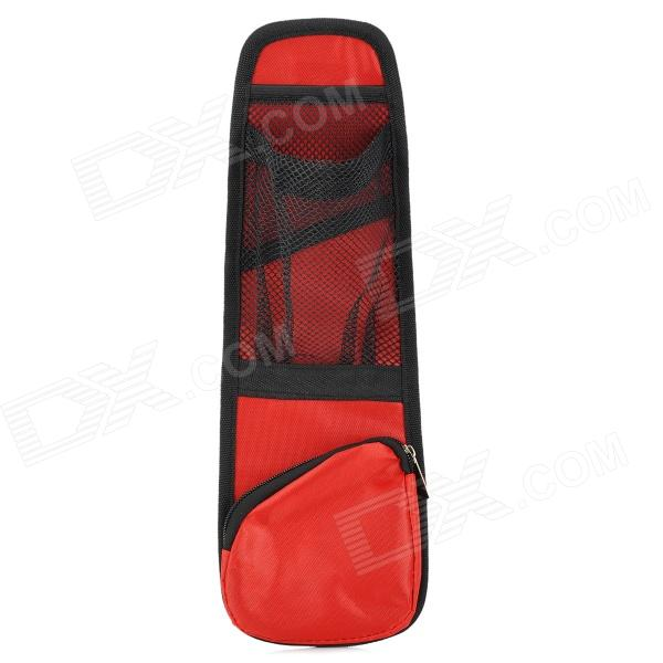 Multifunction Car Seat Chair Side Multi Pockets Storage Bag - Black + Red