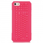 3D Keyboard Style Protective Silicone Back Case for Iphone 5 - Deep Pink