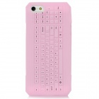 3D Keyboard Style Protective Silicone Back Case for Iphone 5 - Pink