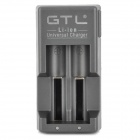 GTL Charger + EU Plug for 18650 / 17670 / 18490 / 17500 / 16340 / 17335 / 14430 / 14500 - Black