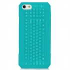 3D Keyboard Style Protective Silicone Back Case for Iphone 5 - Green