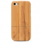 Eiffel Tower Pattern Protective Bamboo Back Case for Iphone 5 - Brown