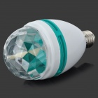 3W 3-LED RGB Sound Active Crystal Mini Party Light - Transparent + Green + White