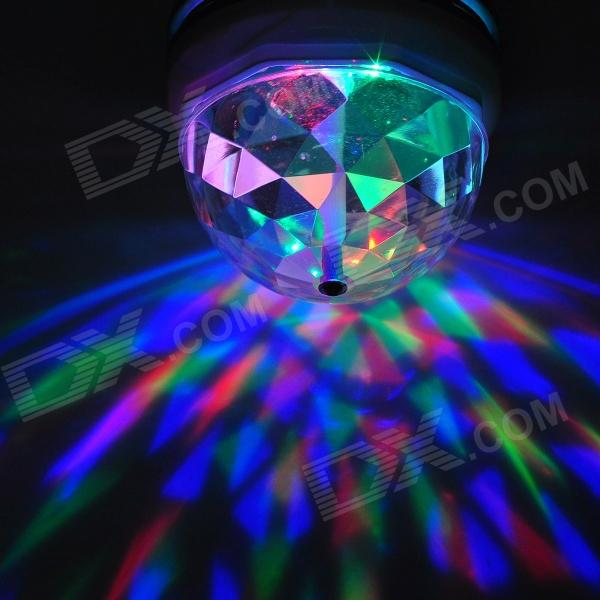 3W 3 LED RGB Sound Active Crystal Mini Party Light