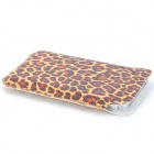 Small Leopard Pattern Fashion PU Leather Case for Iphone 4 / 4S - Yellow + Brown