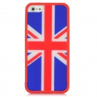 Union Jack Pattern Detectable Protective PC Hard Back Case for iPhone 5 - Red + Blue + White