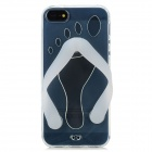Slipper Style Protective Silicone Back Case for Iphone 5 - Transparent + Milky White