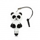 Bear Style Stylus Pen w/ 3.5mm Anti-Dust Plug for Capacitive Screen / Iphone 5 / 4S - White + Black