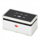 HSY-168F Wireless Bluetooth v3.0 Intelligent Voice Speaker w/ Cover for PS3 / iPhone - White + Black