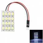 RL13121032 T10 / BA9S / Festoon 8W 650lm 16-SMD 5630 LED White Light Car Tail / Reading lamp - (12V)