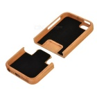 Bagua Pattern Wooden Detachable Back Case for Iphone 5 - Brown + Black