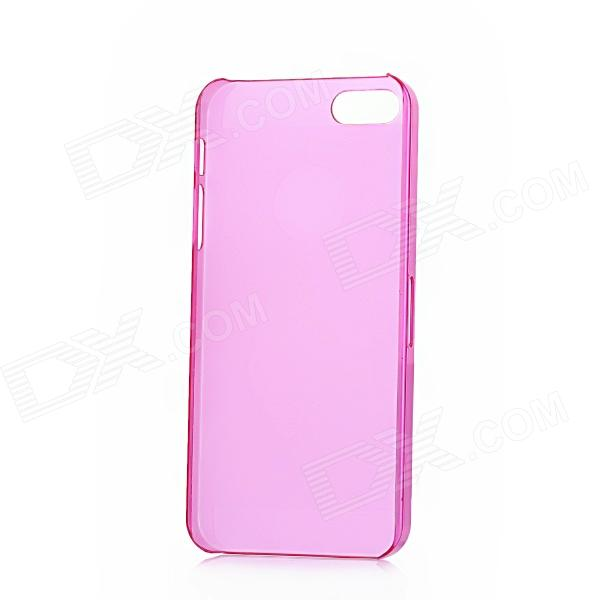 Protective Matte Plastic Case for Iphone 5 - Translucent Purple