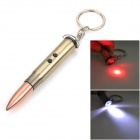 9107 3-in-1 Bullet Shaped 3mW Red Laser + Ballpoint Pen + White Light LED Pencil Lamp - Brass