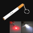 9107 3-in-1 Cigarette Shaped 3mW Red Laser + Black Ink Ballpoint Pen + White Light LED Pencil Lamp