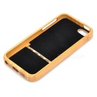Dandelion Pattern Protective Bamboo Detachable Slide Back Case for Iphone 5 - Brown + Black