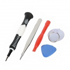 Cell Phone Opening Repair Tools Set for Iphone 5 - Red + Silver + Black + White