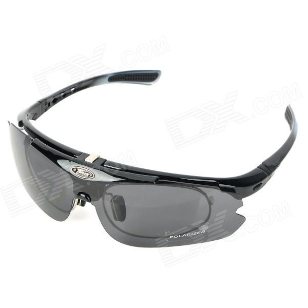 Panlees SP015 Outdoor Sport Cycling UV400 Protection Goggles Sunglasses - Black + White