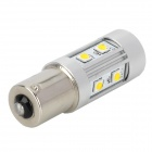 WF11561070 1156 20W 800lm 6000K 10-SMD LED White Light Car Turn Signals / Reversing Lamp - Silver