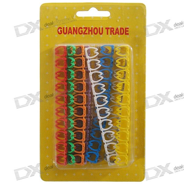 6E Color Numeric Coded Network/General Cable Organization Markers (100-Marker Pack)