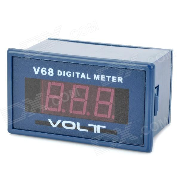 "V68A 0.56"" Red LED AC 0~599V 3-Digit Voltage Digital Meter - Deep Blue + White"
