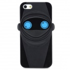 Unique Ninja Style Protective Plastic Back Case for Iphone 5 - Black + Blue
