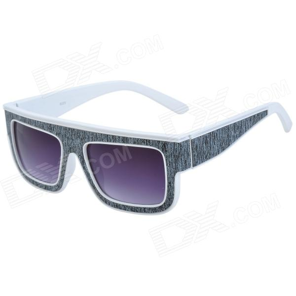 SENLAN 6223 Retro Style Fashion UV400 Protection Sunglasses - Black + Grey