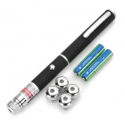 5-in-1 Adjustable 5mW 650nm Gypsophila Red Laser Pointer - Black (2 x AAA)
