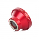 180 Degrees Aluminum + Glass Mobile Phone Fish Lens for Iphone 5 - Wine Red